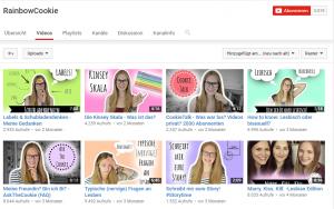 Auf dem YouTube-Kanal RainbowCookie spricht Jenny über Lesbischsein