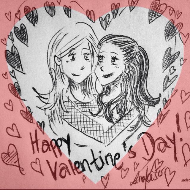 Lesbischer Valentinstag Illustration von Lina Kaiser