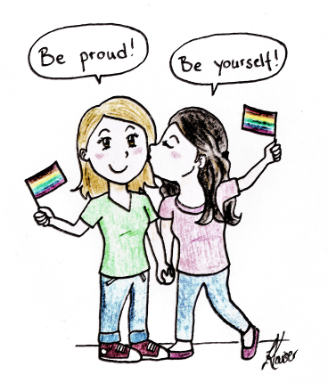 Happy Coming-out Day Illustration von Lina Kaiser