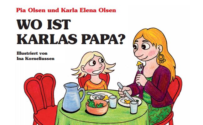 "Kinderbuch für Kinder per Samenspende: ""Wo ist Karlas Papa?"" Cover"