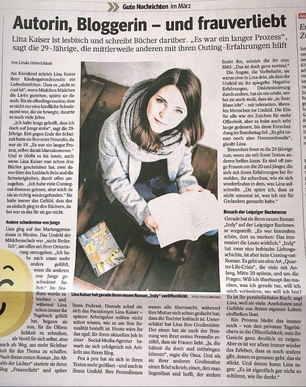 Lina Kaiser frauverliebt in der WAZ