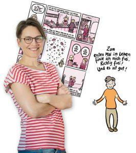 """LGBT Comiczeichnerin Martina Schradi mit """"Ach, so ist das?!"""""""