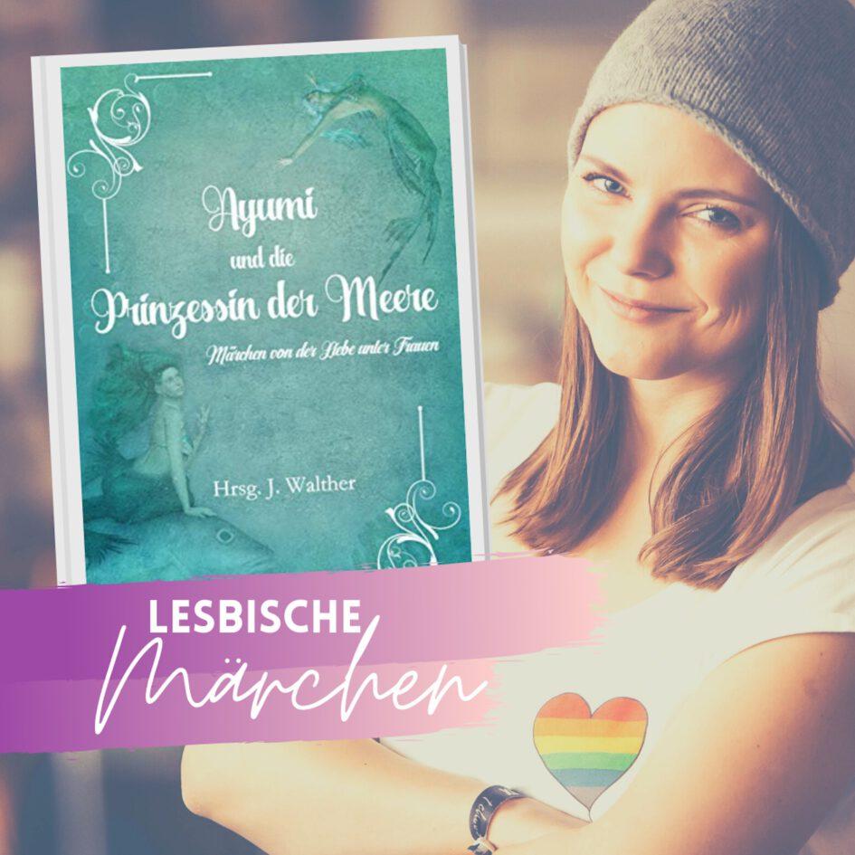 """Grafik: """"frauverliebt - der lesbische Podcast"""" über lesbische Märchen"""
